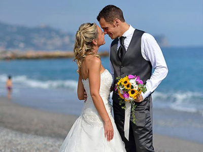 Getting married on the beach in Liguria