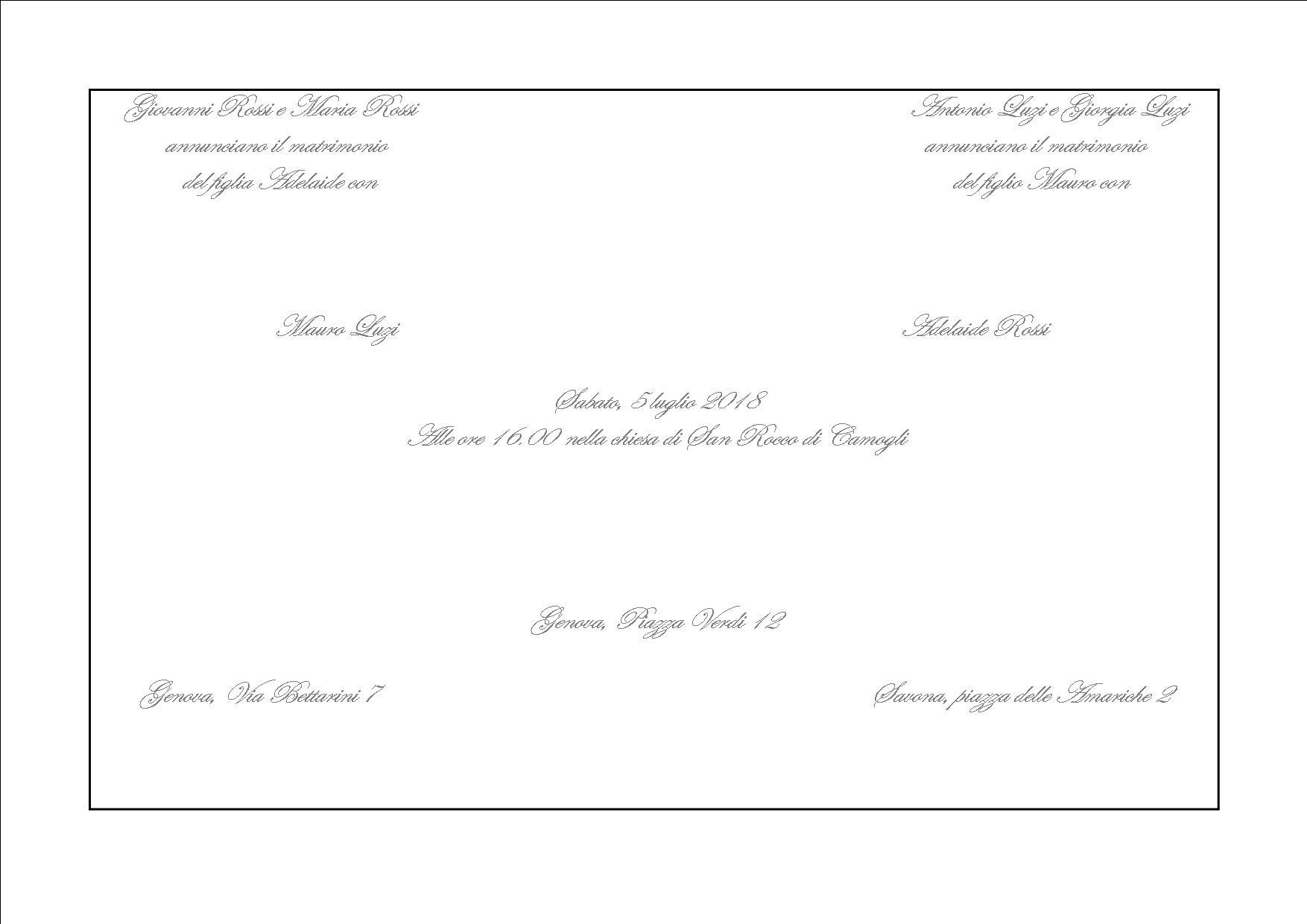 Partecipazioni Matrimonio Genitori.Il Galateo Per Le Cerimonie La Partecipazione Wedding Portofino