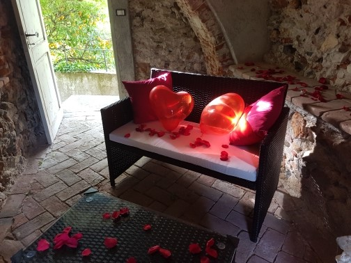 Cena romantica in torre medievale